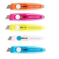 Odlamovací nůž Deli Vivid mini E2020 - 9 mm, plastový, mix barev