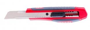 Odlamovací nůž Deli Pro Soft E2047 - 18 mm, plastový, červený