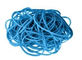 Gumičky 1 mm - průměr 30 mm, modré, 50 g
