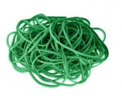 Gumičky 1 mm - průměr 40 mm, zelené, 50 g
