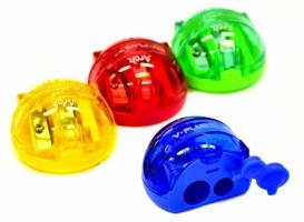 Ořezávátko ICO -  plastové, 2 otvory, mix barev