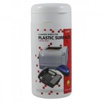 Čistící trhací ubrousky na plastové povrchy Logo - dóza, 100 ks