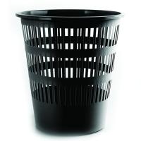 Odpadkový koš 12 l Donau - perforovaný, plastový, černý