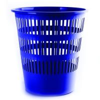 Odpadkový koš 12 l Donau - perforovaný, plastový, modrý