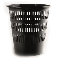 Odpadkový koš 16 l Donau - perforovaný, plastový, černý