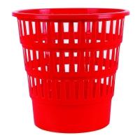 Odpadkový koš 16 l Donau - perforovaný, plastový, červený