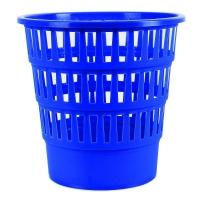 Odpadkový koš 16 l Donau - perforovaný, plastový, modrý
