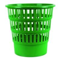 Odpadkový koš 16 l Donau - perforovaný, plastový, zelený