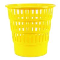 Odpadkový koš 16 l Donau - perforovaný, plastový, žlutý
