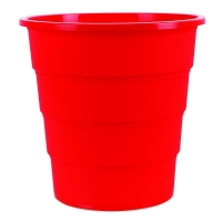 Odpadkový koš 16 l Donau - plastový, červený