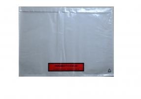 Samolepící kapsa s potiskem Dokumenty k zásilce C5 - transportní, 165x225 mm, transparentní