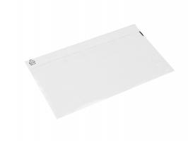 Samolepící kapsa s klopou DL - transportní, 112x225+25 mm, transparentní