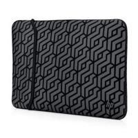 """Sleeve na notebook Reversible-Geometric HP - neopren, 15,6"""", šedý"""