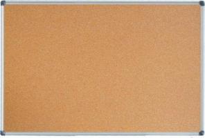 Jednostranná korková tabule - 90x120 cm, hliníkový rám