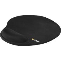 Ergonomická podložka pod myš Yenkee - ergonomická, gelová, černá