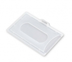 Plastová visačka IDS - závěsná, pro karty 54x86 mm, transparentní, 100 ks