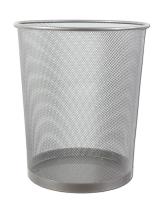 Drátěný odpadkový koš 13 l - malý, stříbrný