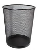 Drátěný odpadkový koš 13 l - malý, černý