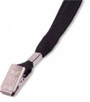 Šňůrka na krk LILY - s klipsem, černá, 50 ks