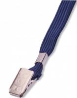 Šňůrka na krk LILY - s klipsem, tmavě modrá, 50 ks
