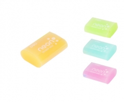 Pryž Deli EH01000 Neon - 39x27x12 mm, mix barev