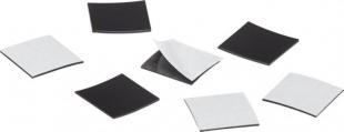 Samolepící magnety Magnetoplan Takkis - 30x20 mm, černé, 45 ks