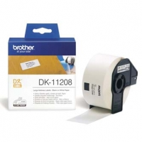 Brother papírové štítky 38mm x 90mm, bílá, 400 ks, DK11208, pro tiskárny řady QL