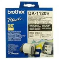 Brother papírové štítky 29mm x 62mm, bílá, 800 ks, DK11209, pro tiskárny řady QL