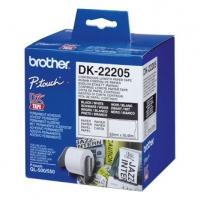 Brother papírová role 62mm x 30.48m, bílá, 1 ks, DK22205, pro tiskárny štítků