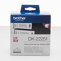 Brother papírová role 62mm x 15.24m, bílá, 1 ks, DK22251, pro tiskárny štítků