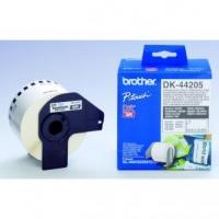 Brother papírová role 62mm x 30.48m, bílý, snímatelná, 1 ks, DK44205, pro tiskárny štítků