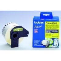 Brother papírová role 62mm x 30.48m, žlutá, snímatelná, 1 ks, DK44605, pro tiskárny štítků