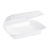 Jednodílný menu box - XPS, 24,1x20,7x6,9 cm, bílý, 125 ks