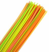 Plastové brčko Jumbo XXL - 100 cm, mix barev, 100 ks - DOPRODEJ