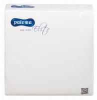 Koktejlové ubrousky Paloma - 24x24 cm, jednovrstvé, 100% celulóza, bílé, 500 ks