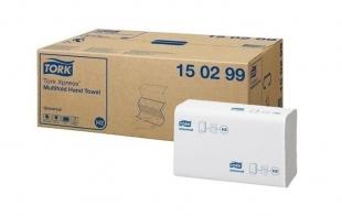 Skládaný papírový ručník Tork Xpress Multifold 150299 - dvouvrstvý, 21,2x25,5 cm, bělený recykl, systém H2, 4746 ks