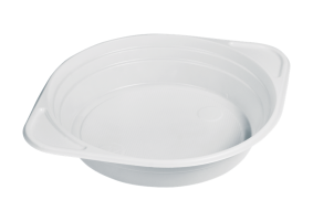 Plastová miska na polévku s oušky 350 ml - PP, bílá, 100 ks