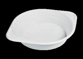Plastová miska na polévku s oušky 500 ml - PP, bílá, 100 ks