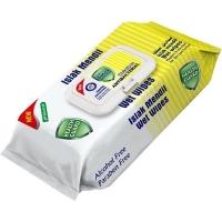 Antibakteriální vlhčené ubrousky na ruce Detox - s klipem, lemon, 80 ks