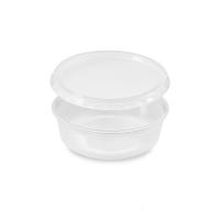 Miska na dressing + plastové víčko 50 ml - PP, transparentní, 600 ks