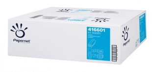 Skládaný papírový ručník ZZ Papernet Special Z-Fold 416601 - dvouvrstvý, 20,3x24 cm, deinked, bílý, 4000 ks
