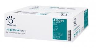 Skládaný papírový ručník ZZ Papernet DissolveTech V-Fold 412041 - jednovrstvý, 20,3x24 cm, 50% bělost, natur, 5000 ks
