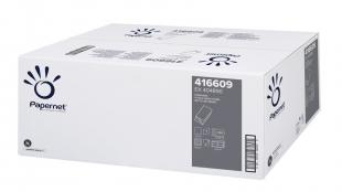 Skládaný papírový ručník ZZ Papernet UniGreen 416609 - jednovrstvý, 23x24,5 cm, recykl, zelený, 5000 ks