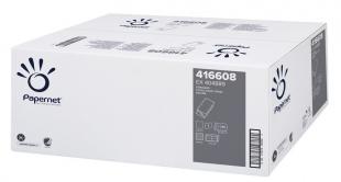 Skládaný papírový ručník ZZ Papernet UniNature 416608 - jednovrstvý, 23x24,5 cm, 50% bělost, natur, 5000 ks