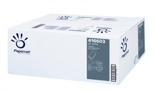 Skládaný papírový ručník ZZ Papernet Blue 416603 - jednovrstvý, 23x24,5 cm, recykl, modrý, 5000 ks