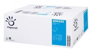 Skládaný papírový ručník ZZ Papernet V Special Extra White 406343 - dvouvrstvý, 24x23 cm, deinked, bílý, 3750 ks