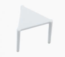 Plastový distanční stojánek do krabice na pizzu - 3 cm, bílý, 100 ks