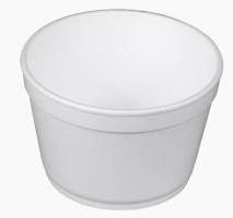 Kulatá termo miska na polévku 360 ml - EPS, bílá, 25 ks