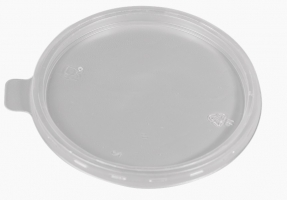 Plastové víčko pro termo misku na polévku 360/460 ml - PP, transparentní, 50 ks - DOPRODEJ