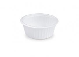 Kulatá termo miska na polévku 400 ml - XPS, bílá, 50 ks